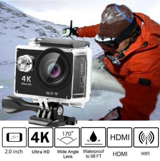 AngelEye KS-503 Authentic H9 4K Ultra HD Wifi 2'' Aksiyon Kamera
